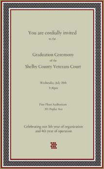 Shelby County Veterans Court Invite